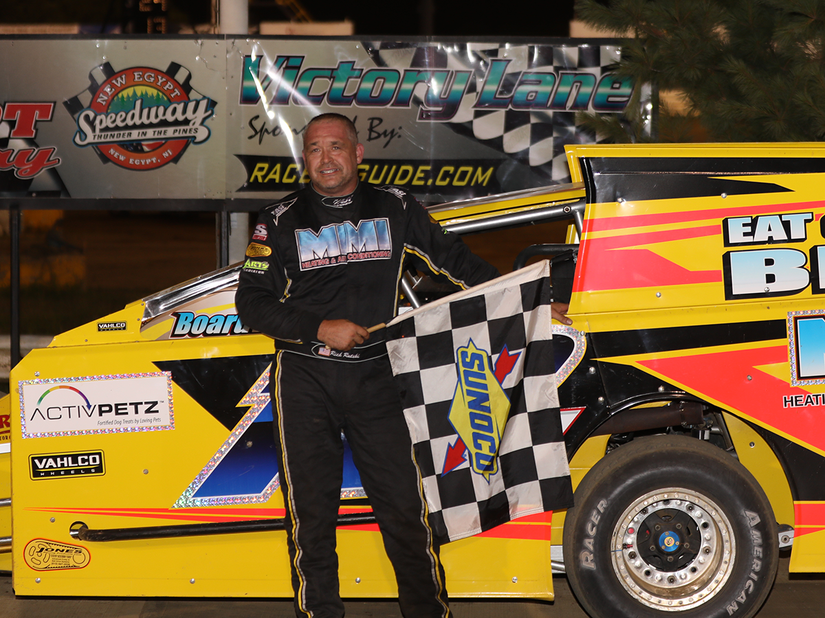 RUTSKI ROLLS TO HIS SECOND MODIFIED WIN OF THE YEAR AT NEW EGYPT SPEEDWAY