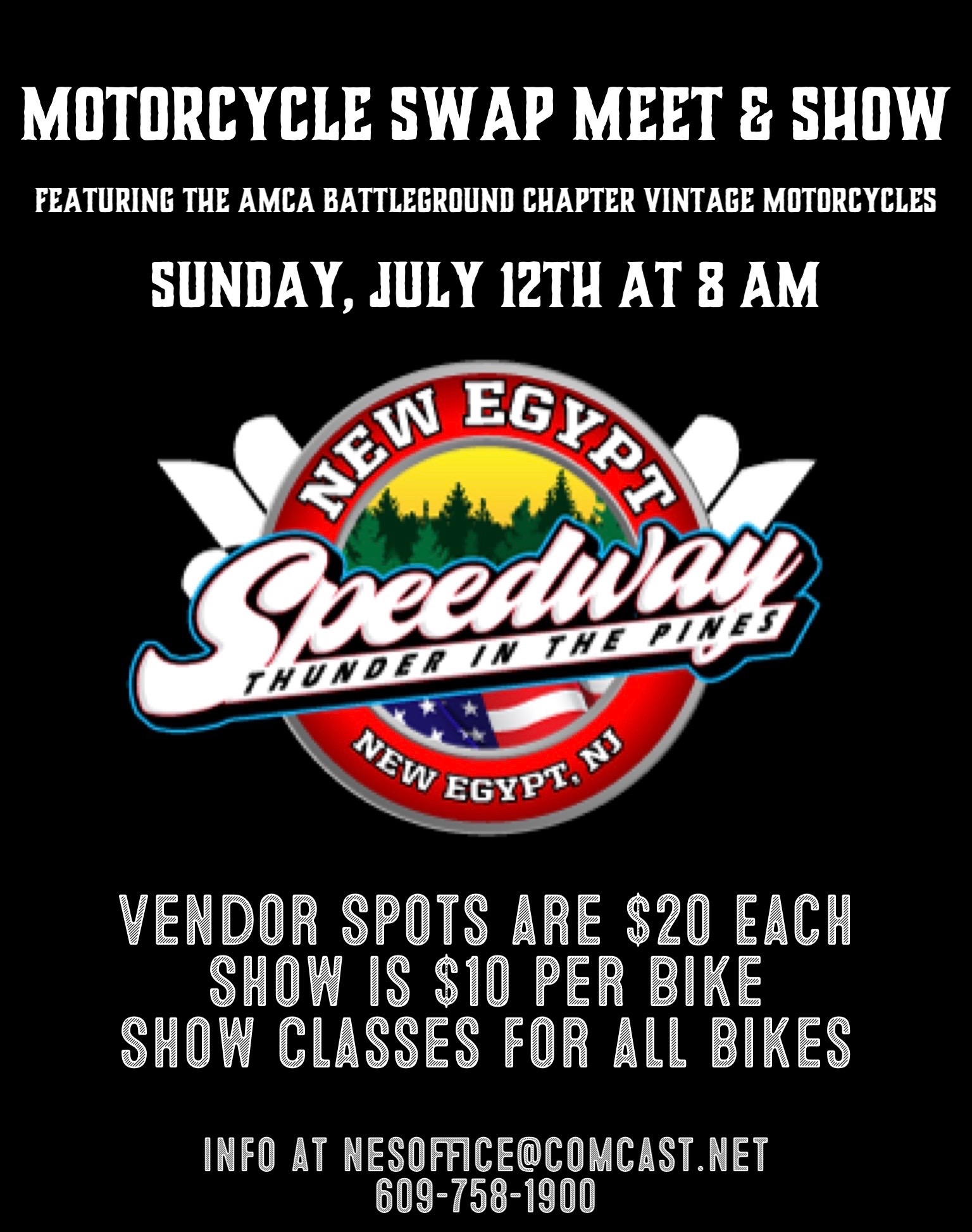 Motorcycle Swap Meet & Show July 12th