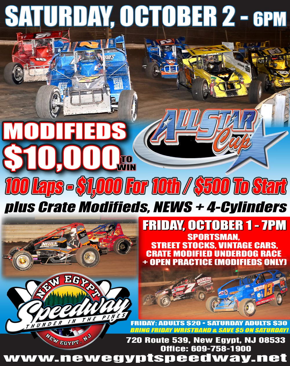 All Star Cup Shootout 100: Modifieds (100 Laps), Crate Modifieds, NEWS + 4-Cylinders