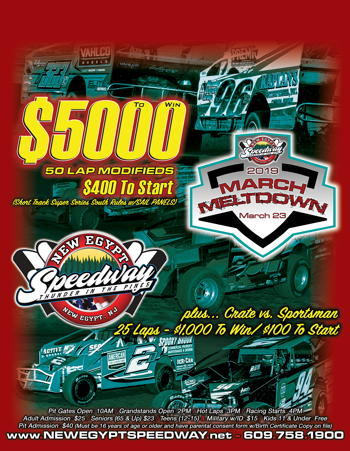 The March Meltdown will be held on Saturday March 23rd at New Egypt Speedway.