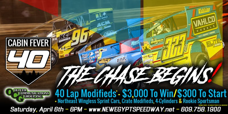 PURCHASE TICKETS ONLINE New Egypt Speedway begins its 22nd season as a dirt track on Saturday night April 6th.
