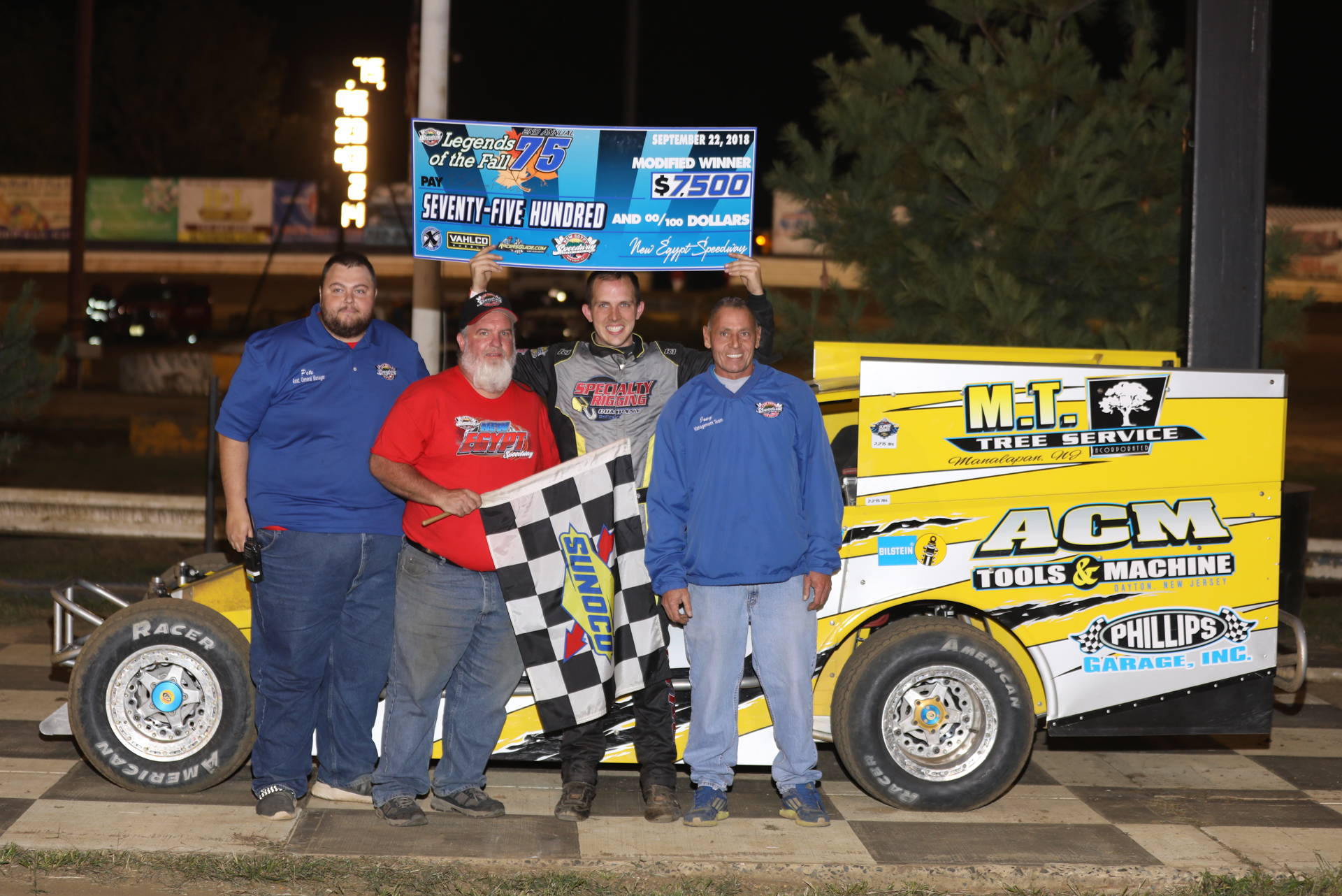 PAUCH AND LINEMAN RECORD WINS AT NEW EGYPT SPEEDWAY'S LEGENDS OF THE FALL