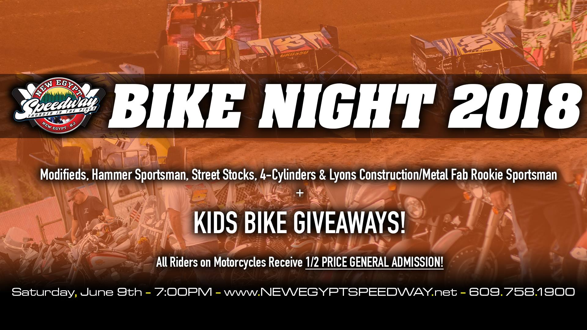 BIKE NIGHT IS UP NEXT AT NEW EGYPT SPEEDWAY