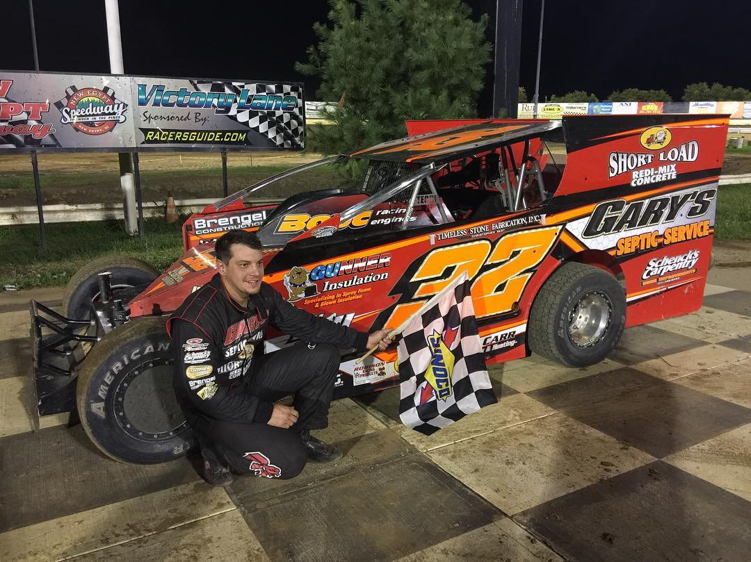 BOUC BAGS HIS SECOND MODIFIED WIN OF THE SEASON AT NEW EGYPT SPEEDWAY