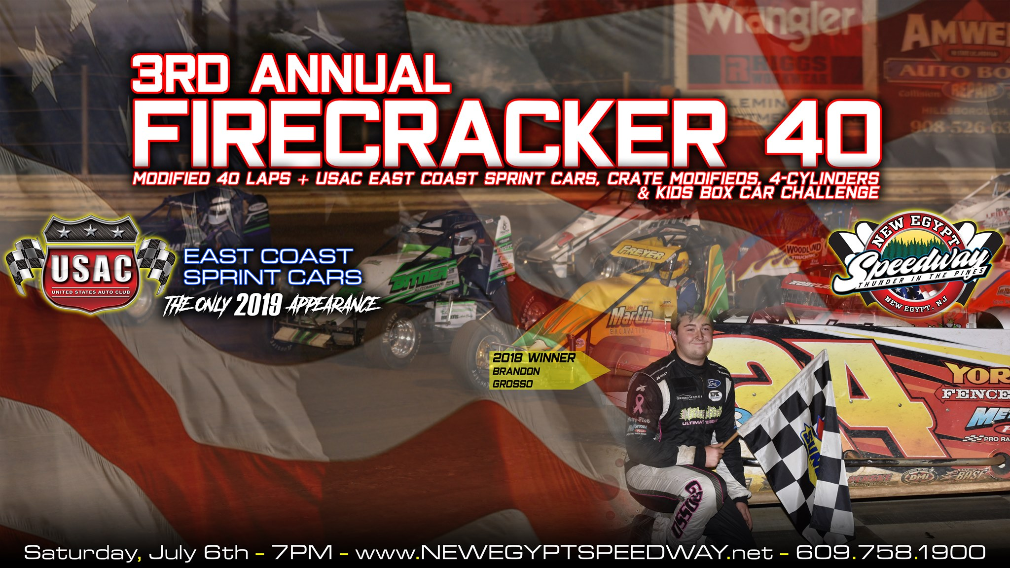 MODIFIEDS ARE SET TO LIGHT IT UP AT NEW EGYPT SPEEDWAY'S FIRECRACKER 40