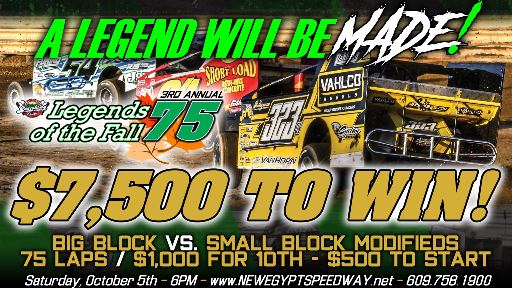 3rd Annual Legends of the Fall 75 Contingency Bonuses Starting To Roll In; Entry Blanks Now Available